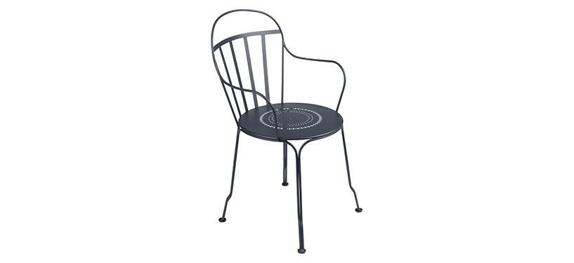 Fermob Louvre Armchair · Anthracite