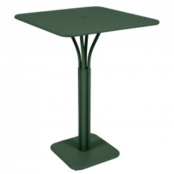 Fermob Luxembourg High Square Table · Cedar Green