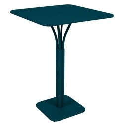 Fermob Luxembourg High Square Table · Acapulco Blue