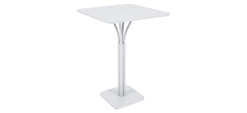 Fermob Luxembourg High Square Table · Cotton White