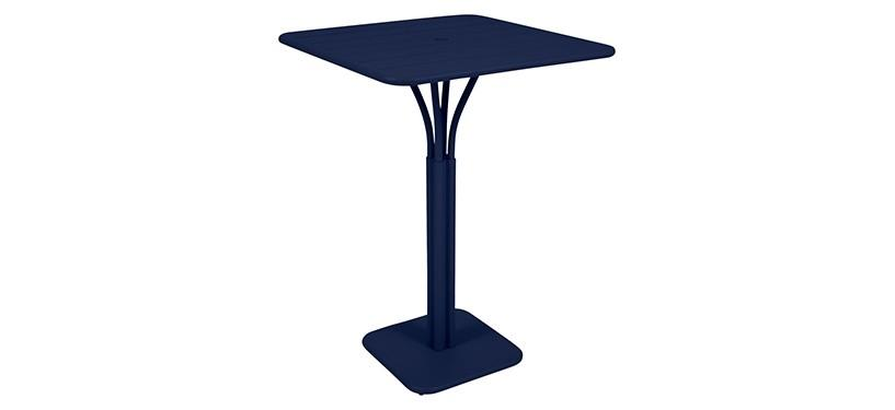 Fermob Luxembourg High Square Table · Deep Blue
