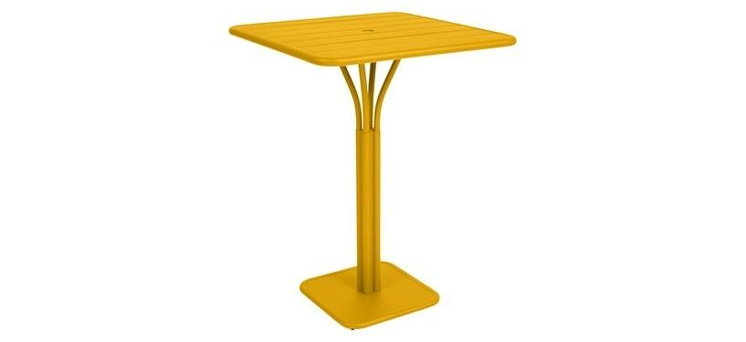 Fermob Luxembourg High Square Table · Honey