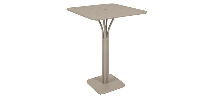 Fermob Luxembourg High Square Table · Nutmeg