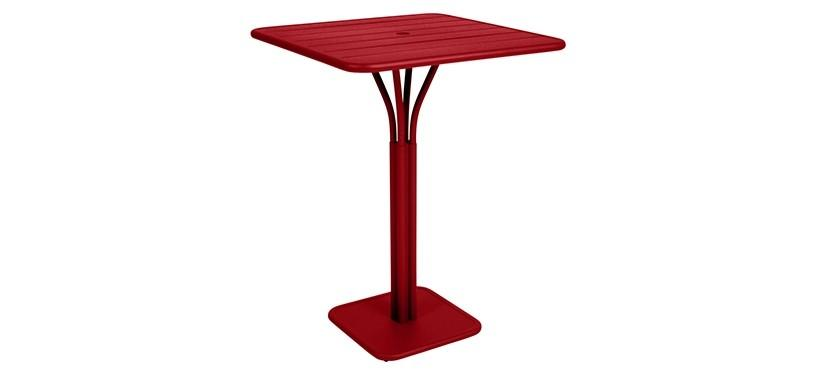 Fermob Luxembourg High Square Table · Poppy
