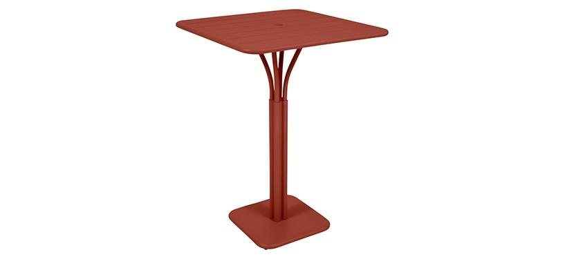 Fermob Luxembourg High Square Table · Red Ochre