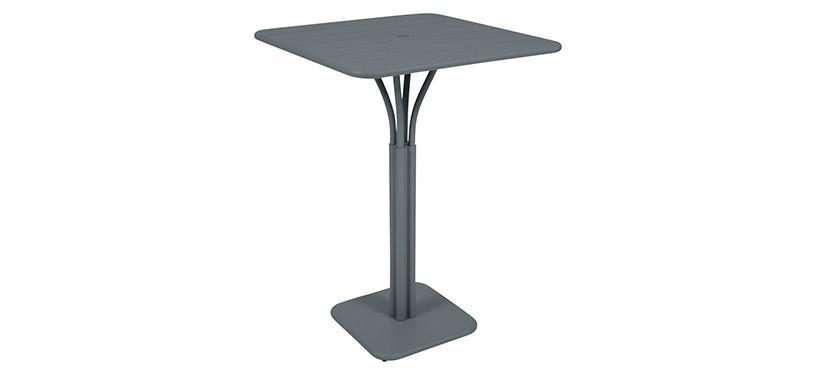 Fermob Luxembourg High Square Table · Storm Grey