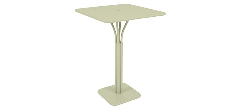 Fermob Luxembourg High Square Table · Willow Green