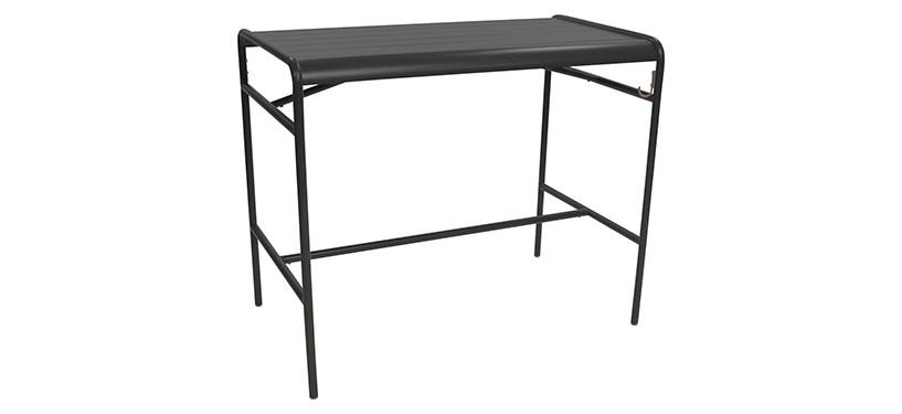 Fermob Luxembourg High Table · Liquorice