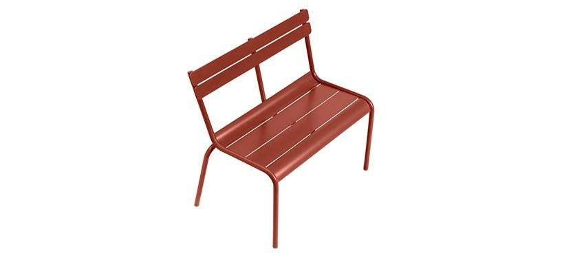 Fermob Luxembourg Kid Bench · Red Ochre