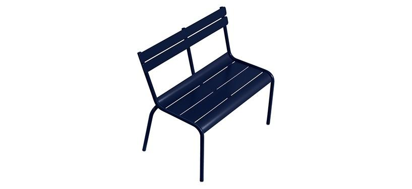 Fermob Luxembourg Kid Bench · Deep Blue