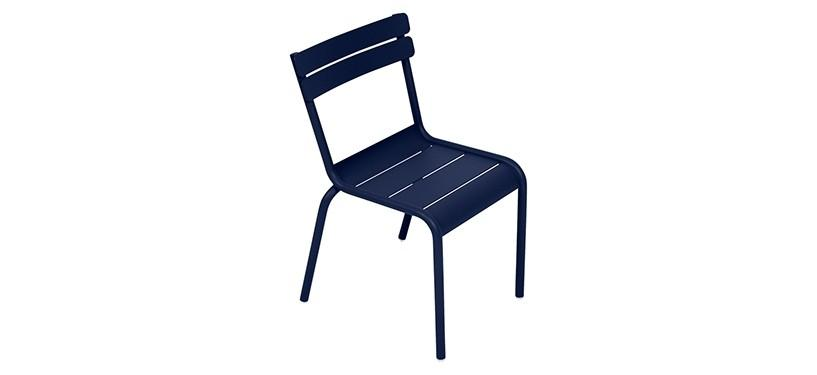 Fermob Luxembourg Kid Chair · Deep Blue
