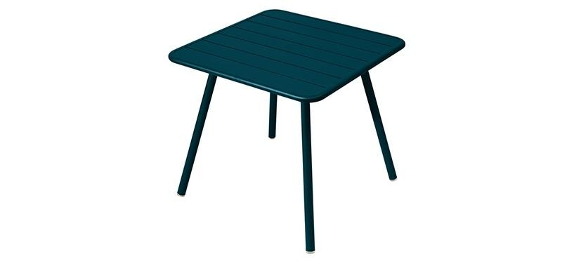 Fermob Luxembourg Table · 80 x 80 · Acapulco Blue