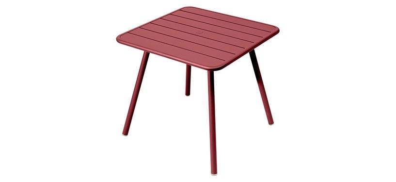 Fermob Luxembourg Table · 80 x 80 · Chili