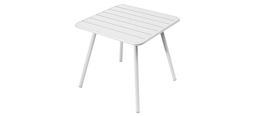 Fermob Luxembourg Table · 80 x 80 · Cotton White
