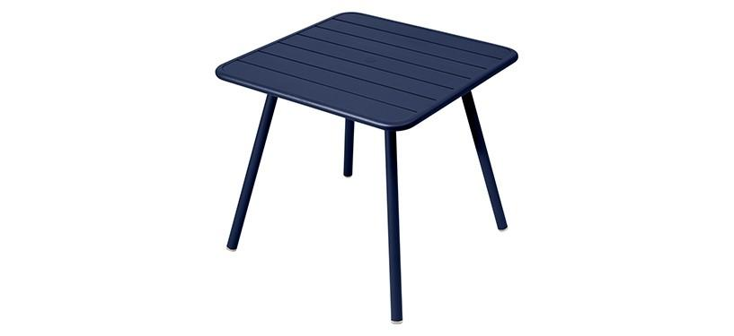 Fermob Luxembourg Table · 80 x 80 · Deep Blue