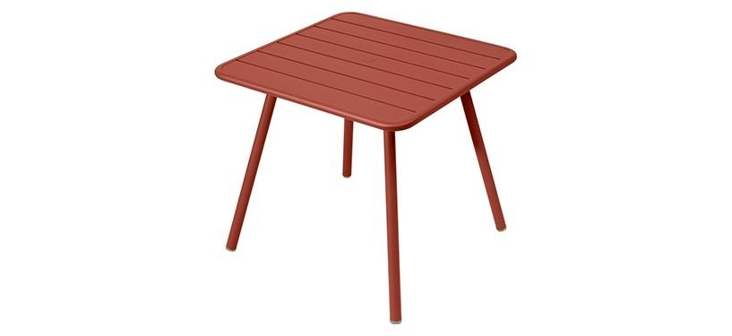 Fermob Luxembourg Table · 80 x 80 · Red Ochre