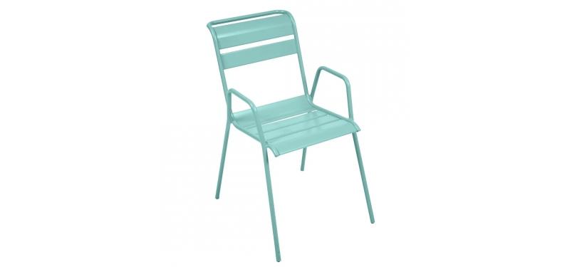 Fermob Monceau Armchair · Lagoon Blue