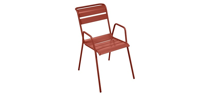 Fermob Monceau Armchair · Red Ochre