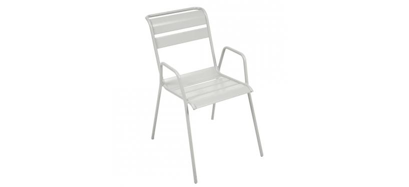 Fermob Monceau Armchair · Steel Grey