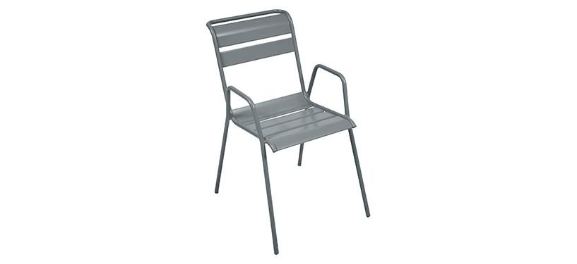 Fermob Monceau Armchair · Storm Grey