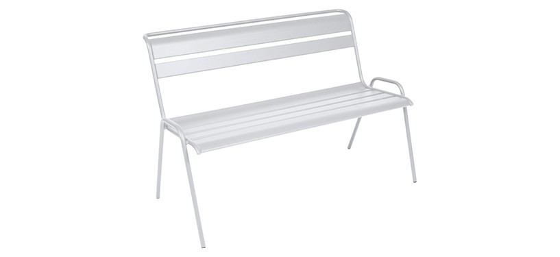 Fermob Monceau Bench · Cotton White
