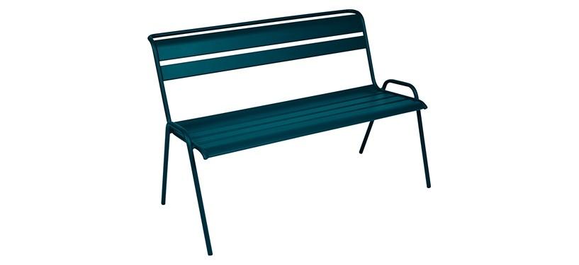 Fermob Monceau Bench · Acapulco Blue