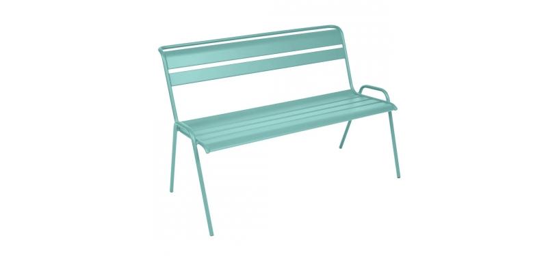 Fermob Monceau Bench · Lagoon Blue