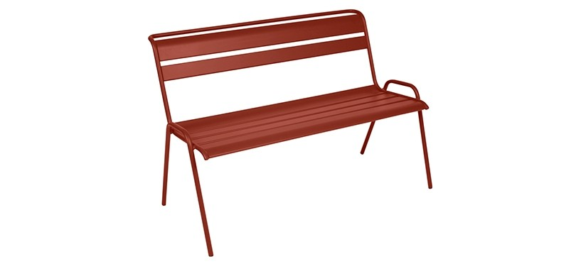Fermob Monceau Bench · Red Ochre
