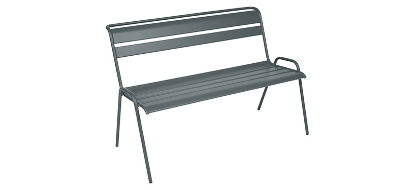 Fermob Monceau Bench · Storm Grey