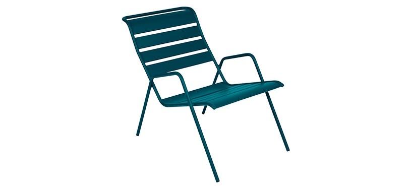 Fermob Monceau Low Armchair · Acapulco Blue