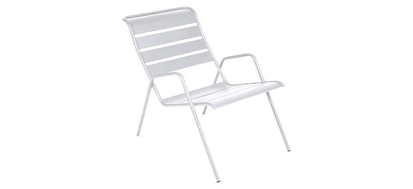 Fermob Monceau Low Armchair · Cotton White