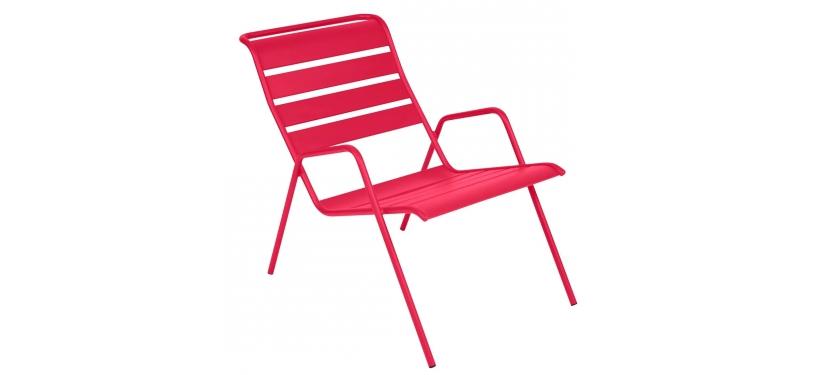 Fermob Monceau Low Armchair · Pink Praline