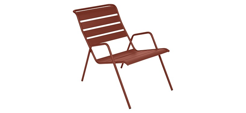 Fermob Monceau Low Armchair · Red Ochre