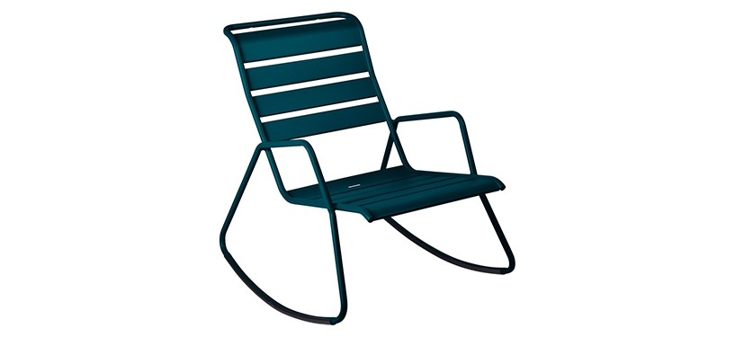 Fermob Monceau Rocking Chair · Acapulco Blue