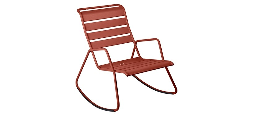 Fermob Monceau Rocking Chair · Red Ochre