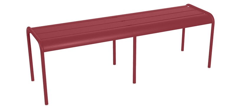 Fermob Monceau XL bench · Chili