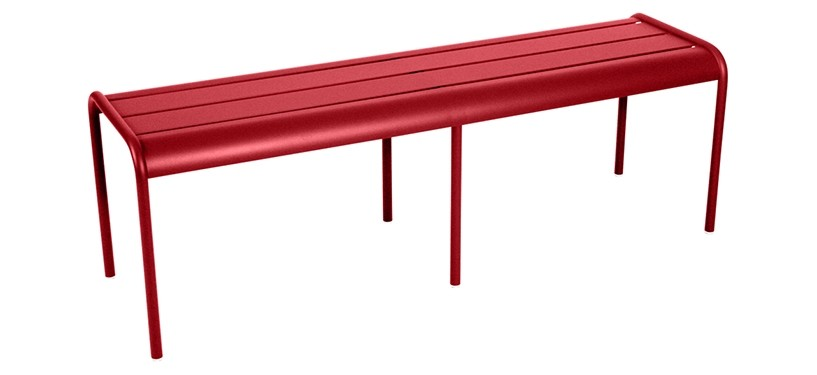 Fermob Monceau XL bench · Poppy