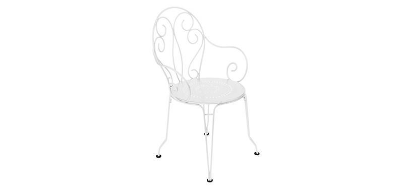 Fermob Montmartre Armchair · Cotton White
