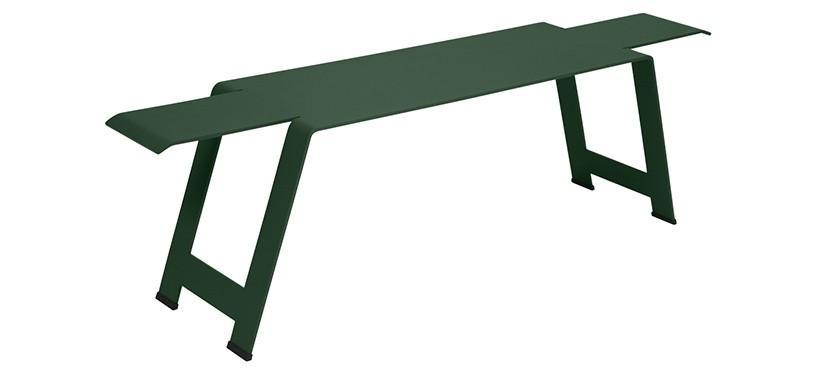 Fermob Origami Bench · Cedar Green