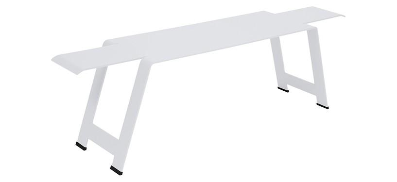 Fermob Origami Bench · Cotton White