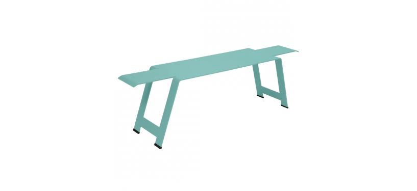 Fermob Origami Bench · Lagoon Blue