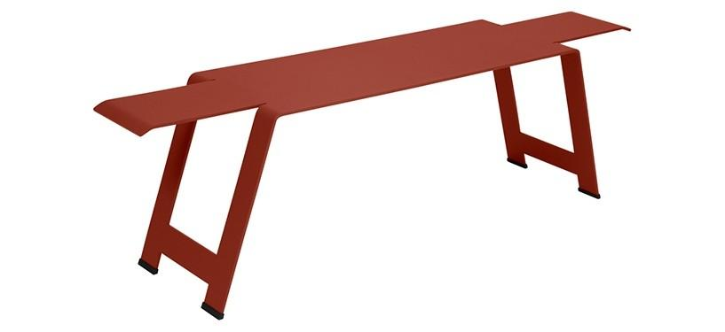 Fermob Origami Bench · Red Ochre