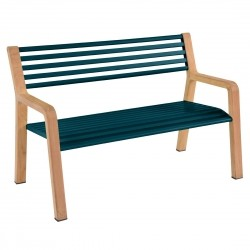 Fermob Somerset Bench · Acapulco Blue