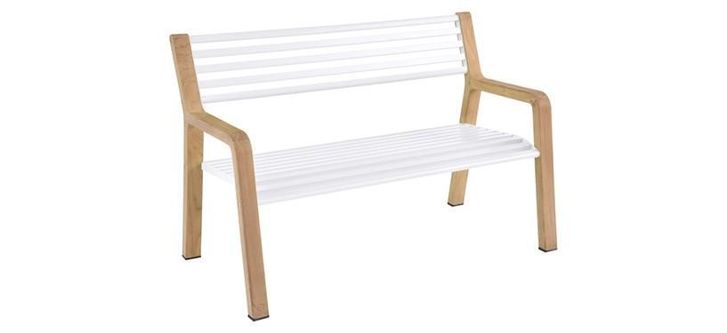 Fermob Somerset Bench · Cotton White