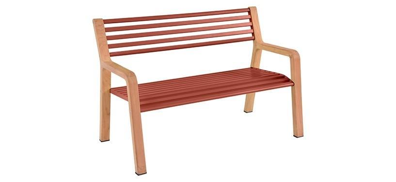 Fermob Somerset Bench · Red Ochre
