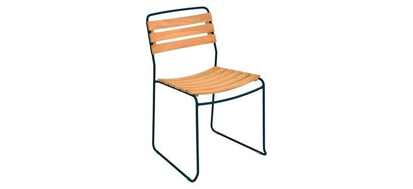 Fermob Surprising Teak Chair · Acapulco Blue