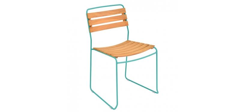 Fermob Surprising Teak Chair · Lagoon Blue