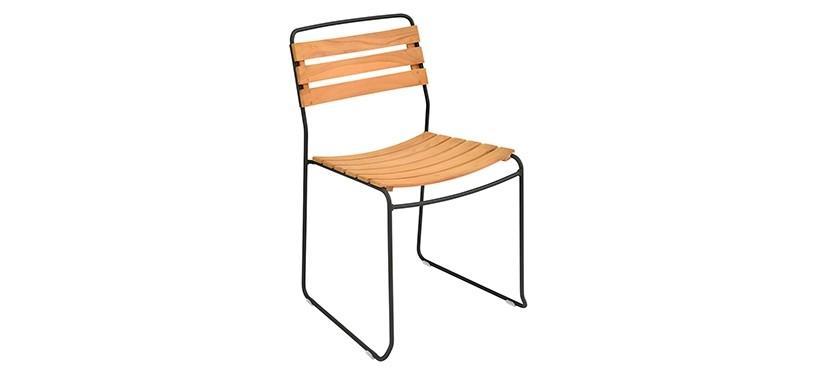 Fermob Surprising Teak Chair · Liquorice