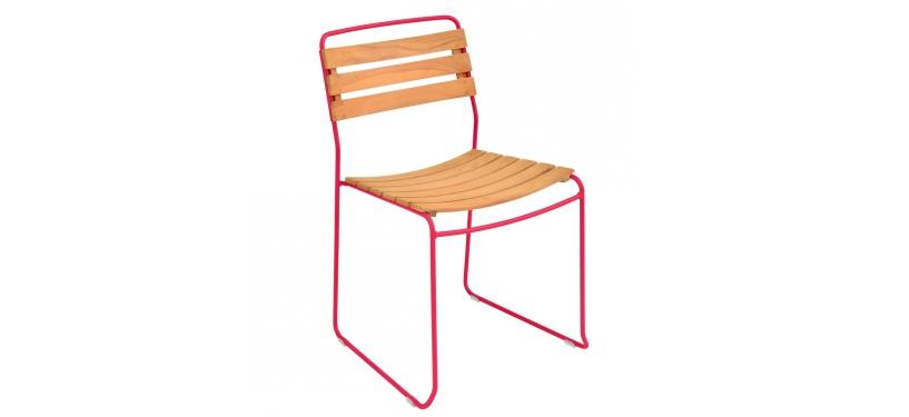 Fermob Surprising Teak Chair · Pink Praline