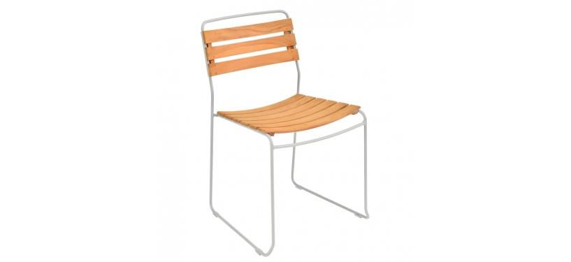 Fermob Surprising Teak Chair · Steel Grey